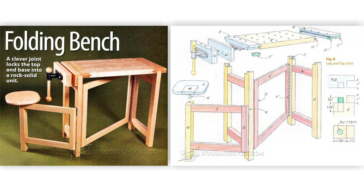 Folding wood carving bench plans woodarchivist