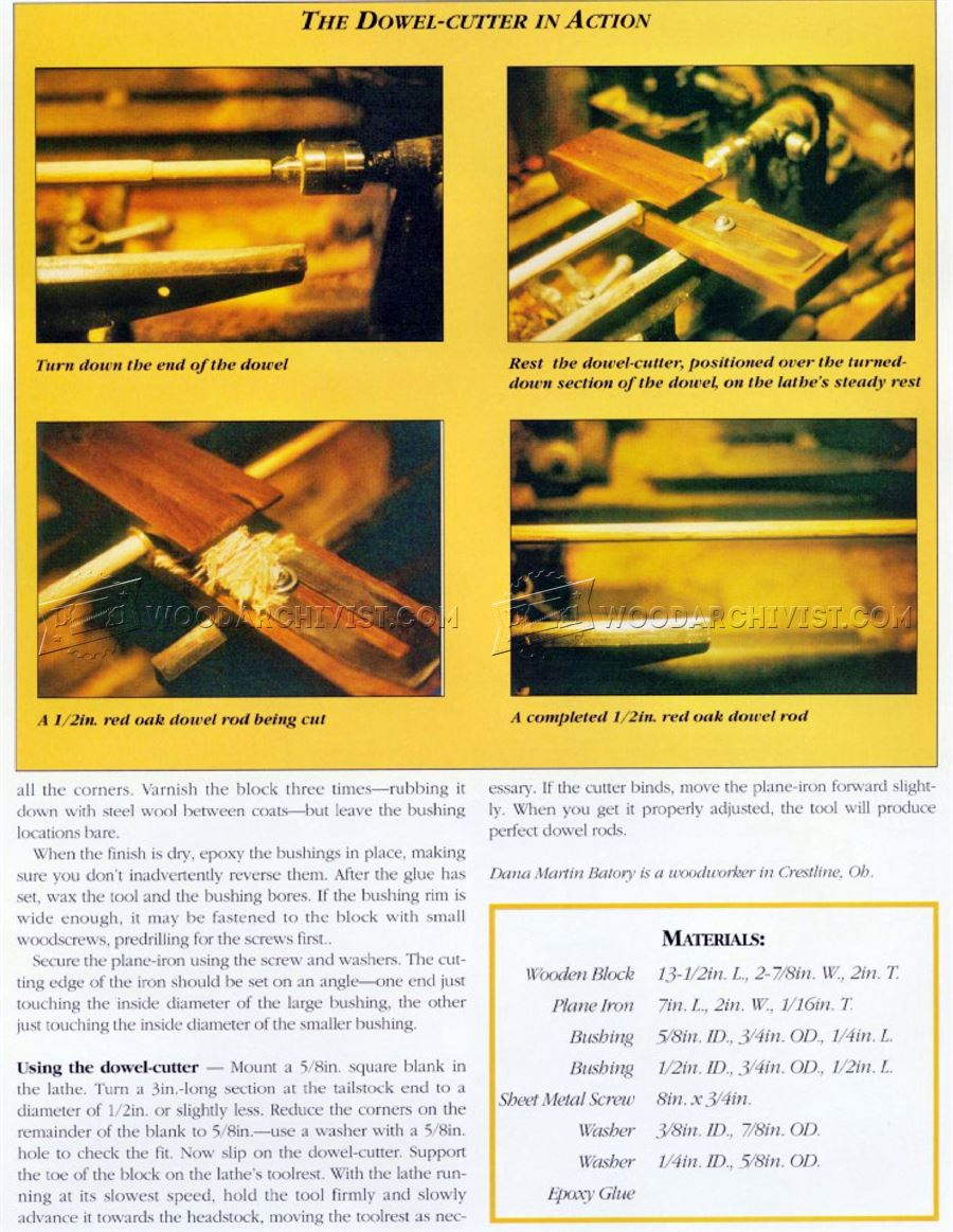DIY Dowel Cutter for Lathe