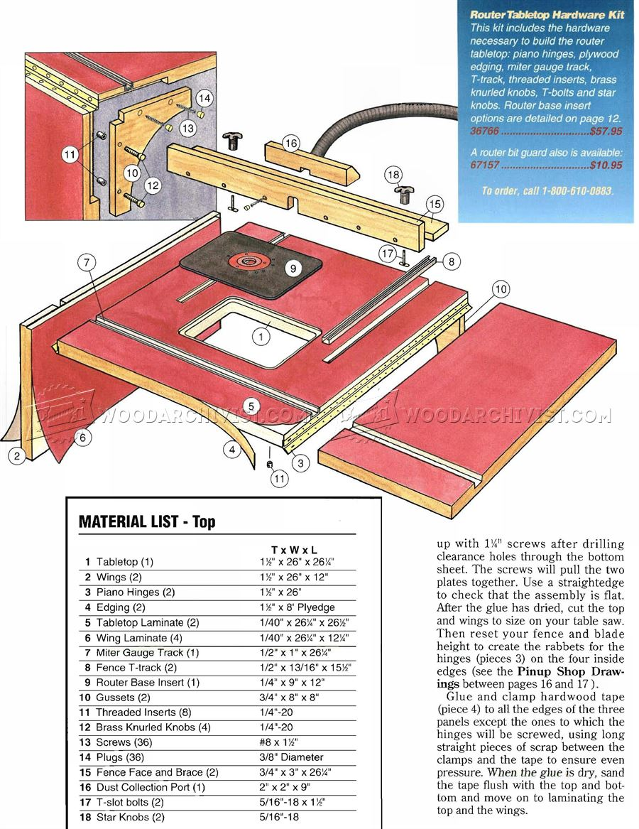 Extension Router Table Plans