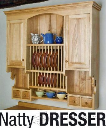 2614-Kitchen Wall Hung Dresser Plans