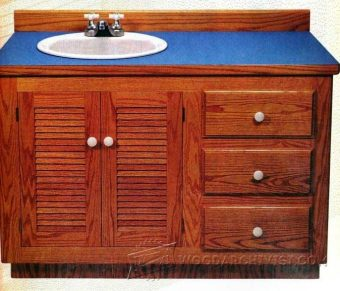 2616-Bathroom Vanity Plans