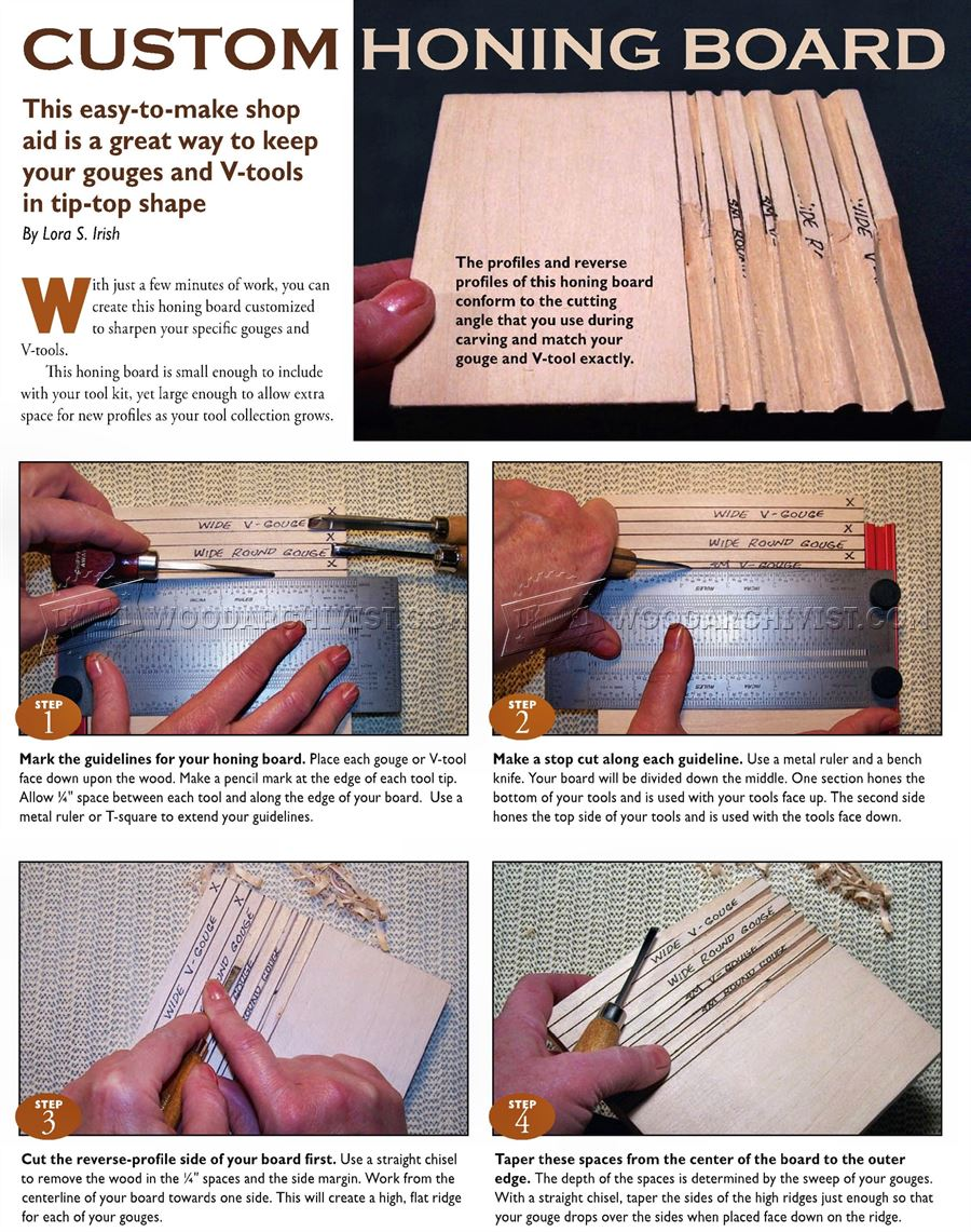 DIY Honing Board - Sharpening Wood Carving Tools