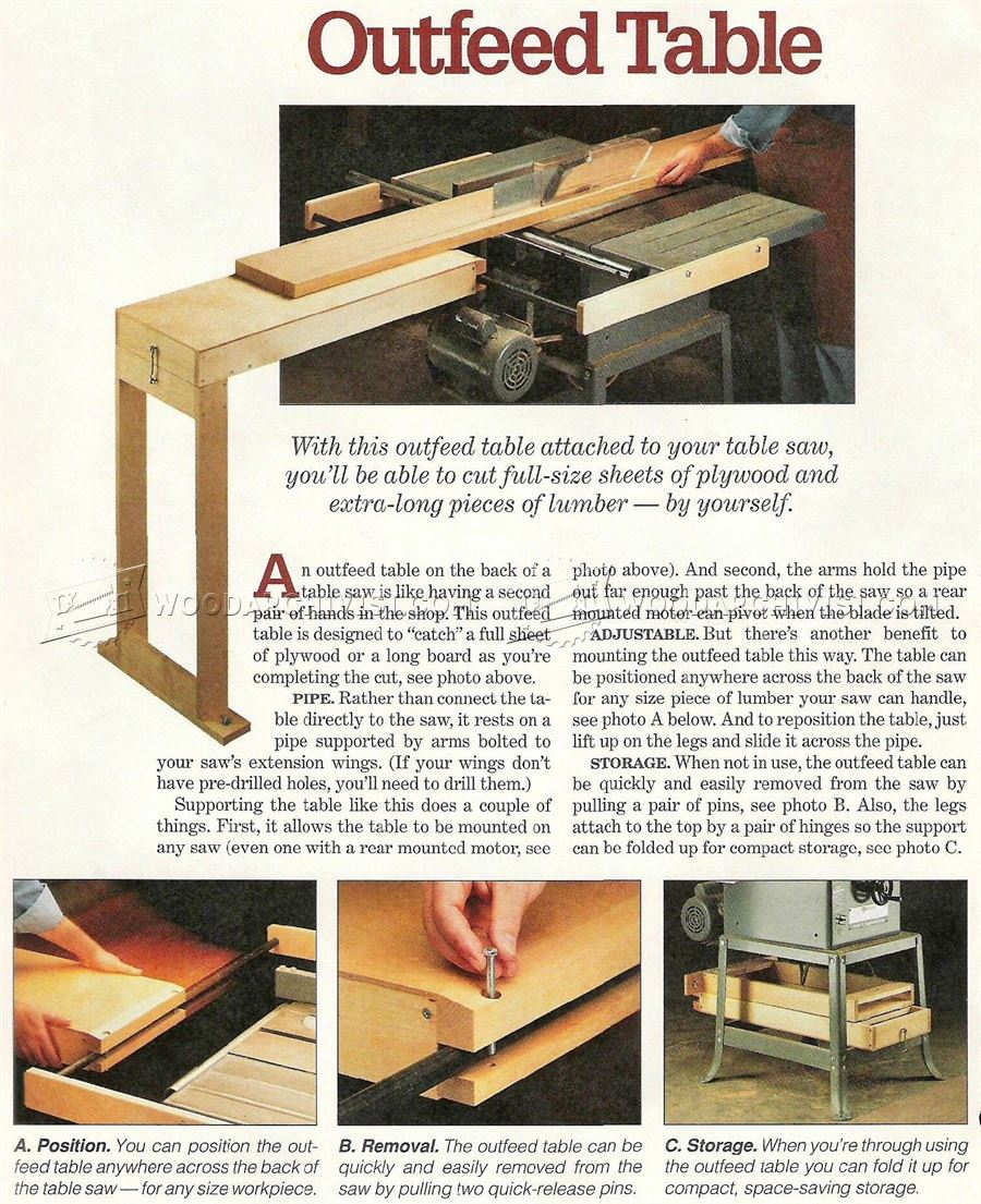 #2624 Table Saw Outfeed Table Plans