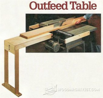 2624-Table Saw Outfeed Table Plans