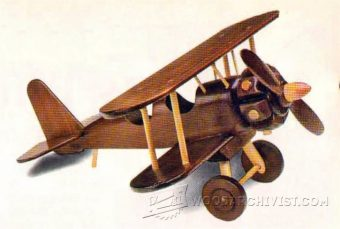 Model Biplane Plans Woodarchivist