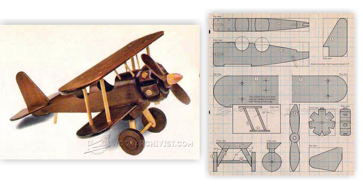 Wooden Toy Aircraft Plans Image Mag