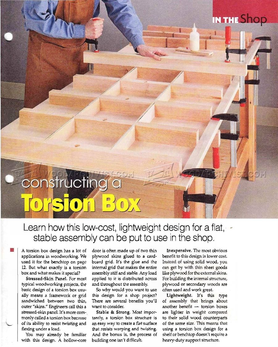 Torsion Box Workbench Plans Woodarchivist