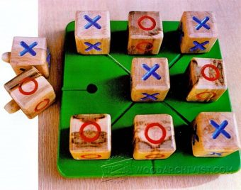 2627-Making Wooden Noughts and Crosses