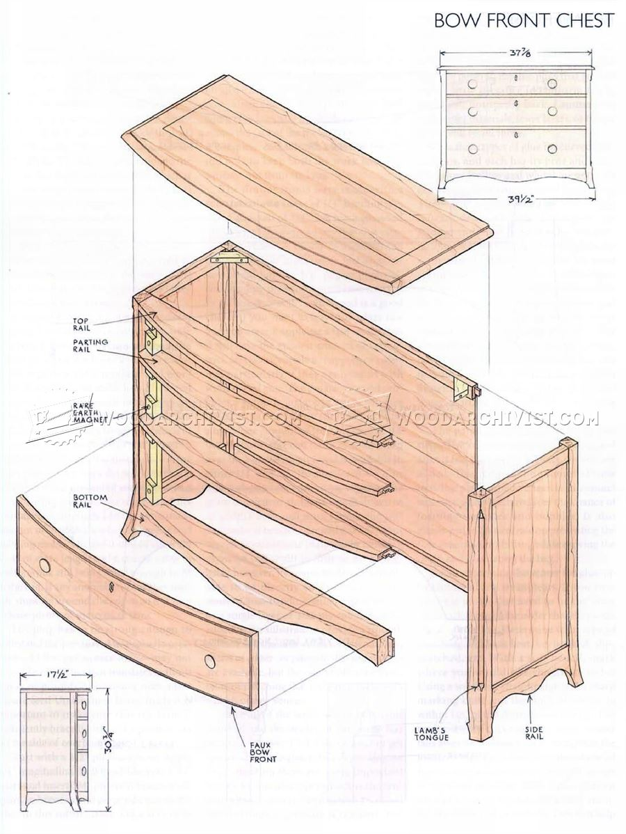 Bow Front Chest Plans