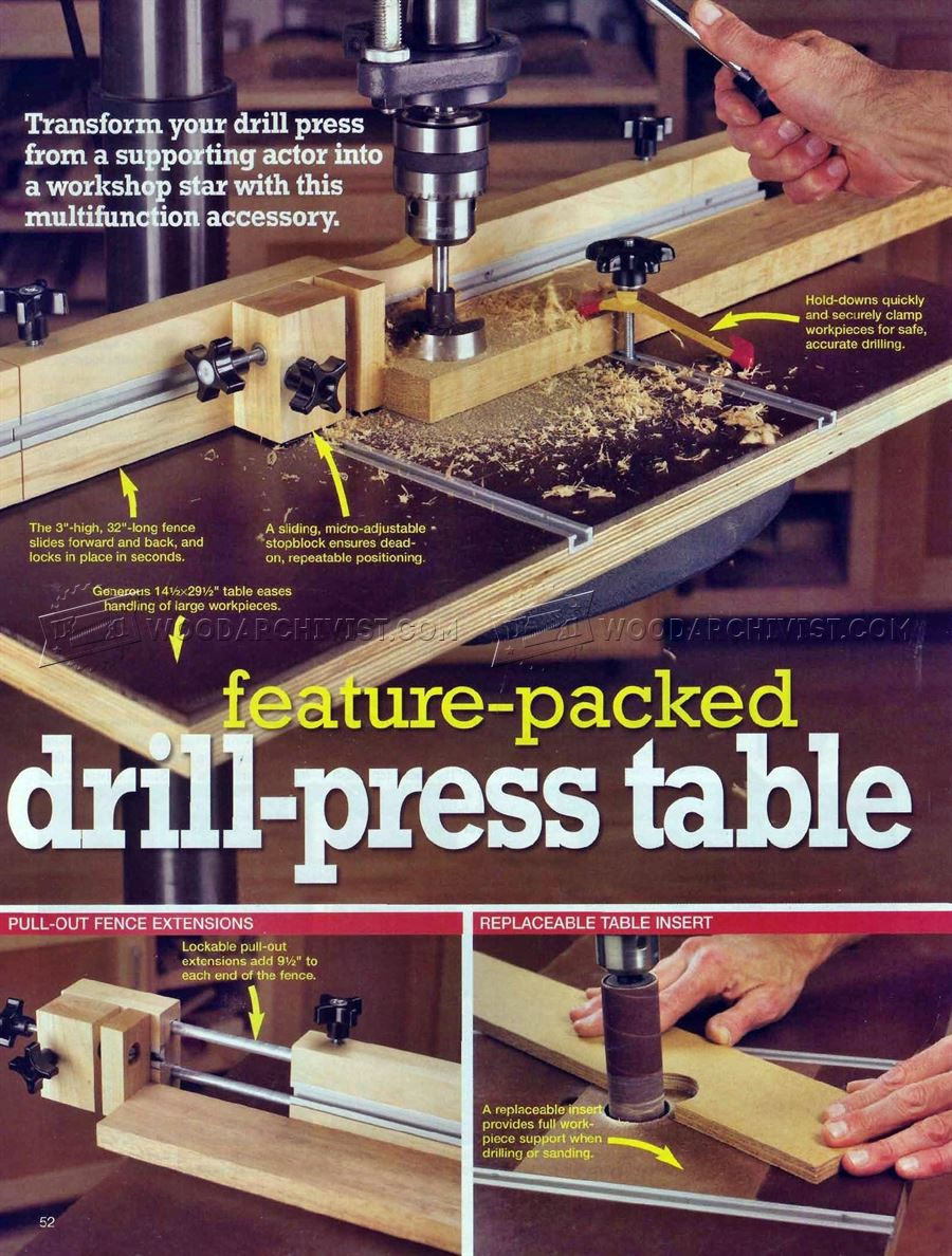 #2630 Drill Press Table and Fence Plans