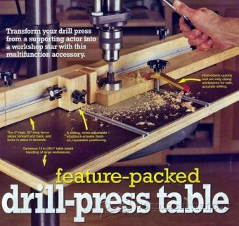 2630-Drill Press Table and Fence Plans