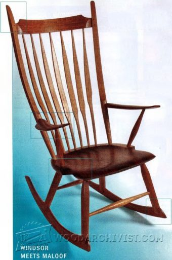 2637-Windsor Rocking Chair Plans
