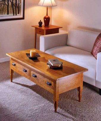 2638-Shaker Coffee Table Plans