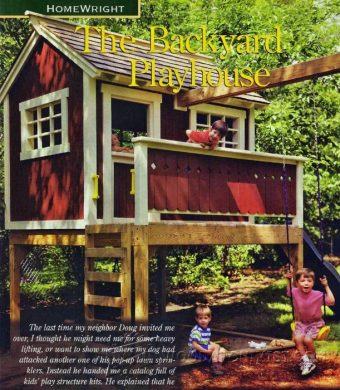 2639-Backyard Playhouse Plans