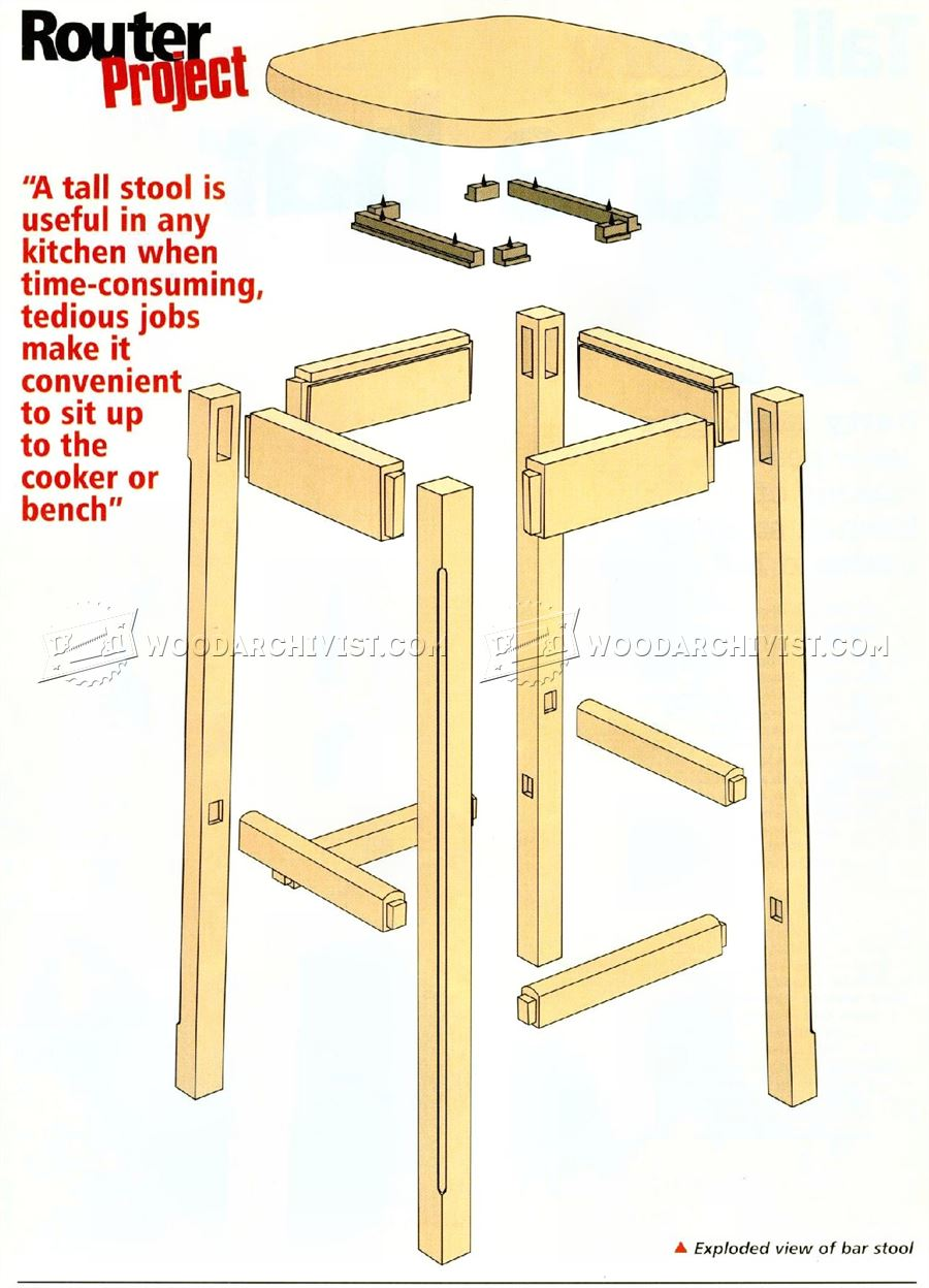 Kitchen Stool Plans