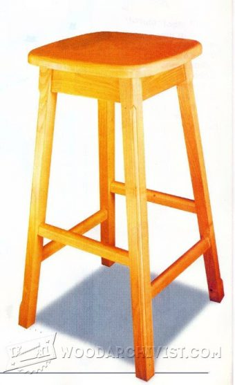 2640-Kitchen Stool Plans