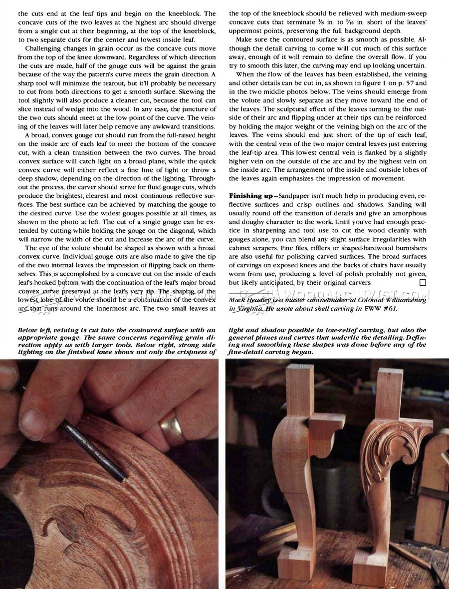 #2641 Carving Cabriole Leg