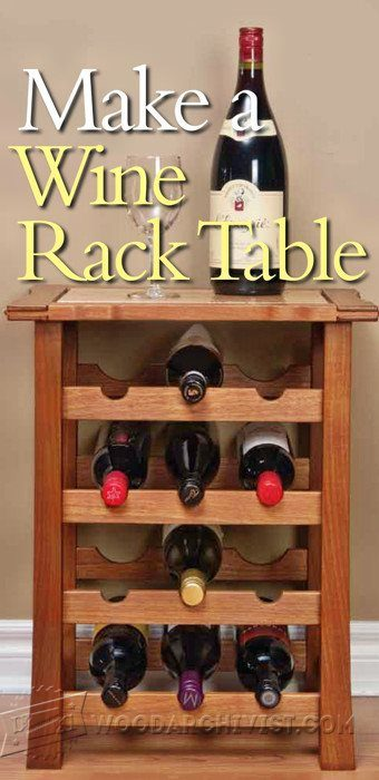 2643-Wine Rack Table Plans