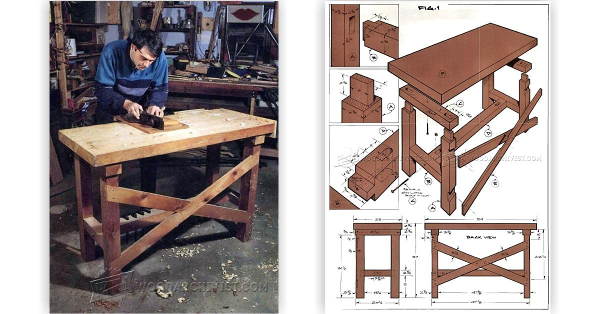 Enjoyable Table Work Bench Plans How To Build A Workbench Snapguide Machost Co Dining Chair Design Ideas Machostcouk