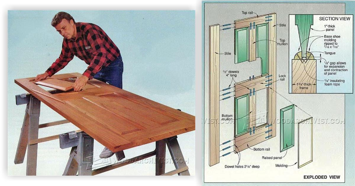 2647 making rail and stile door woodarchivist for Wood stile and rail doors