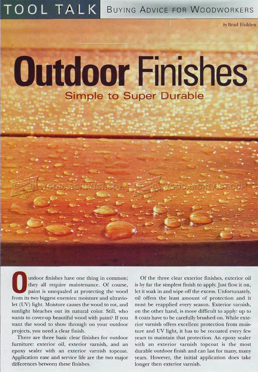 Outdoor Finishes
