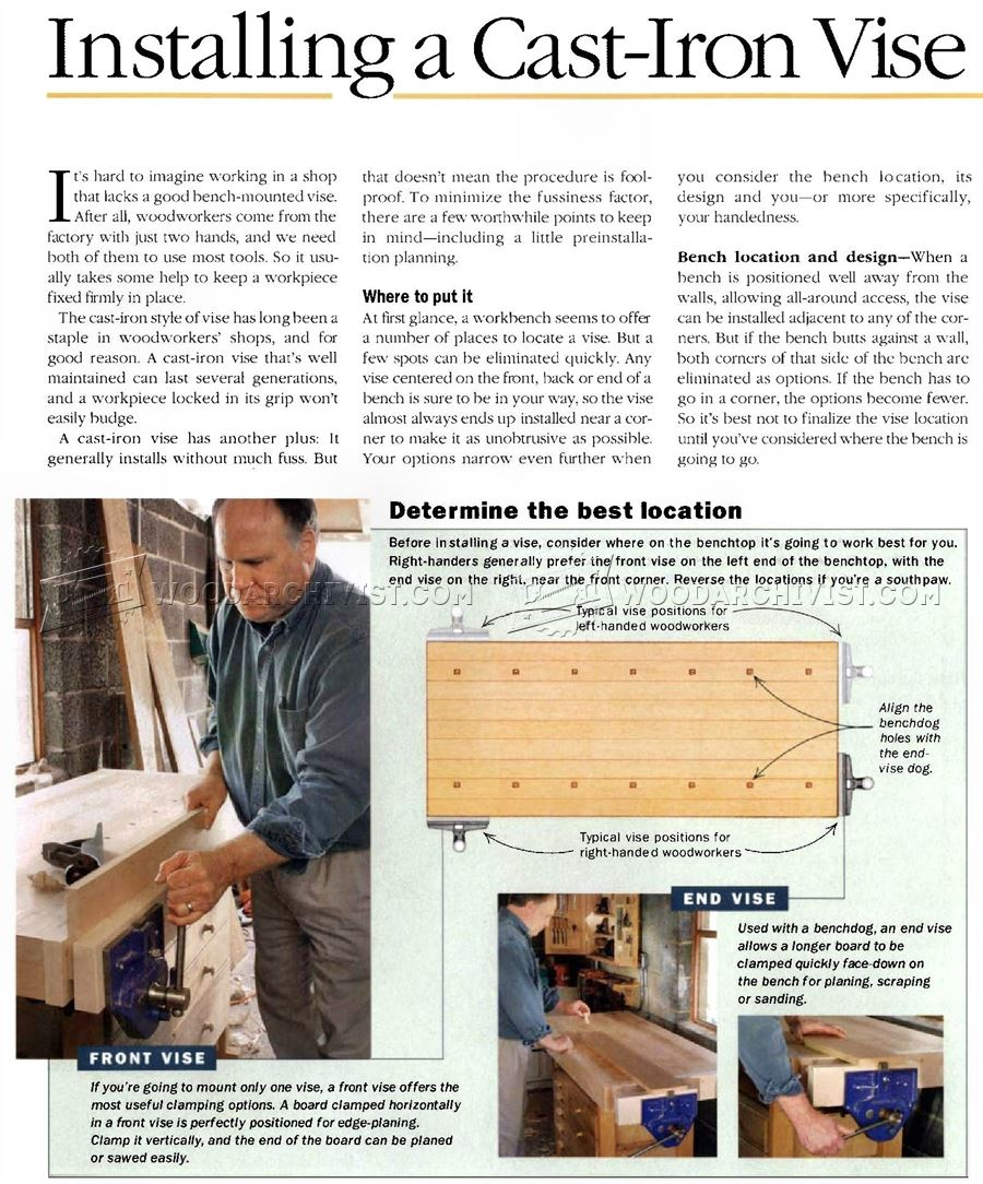 Install Woodworking Vise