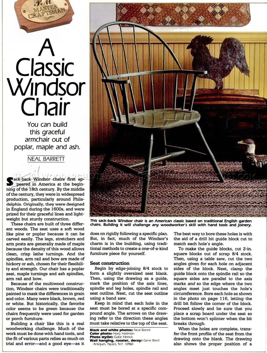 Classiс Windsor Chair Plans
