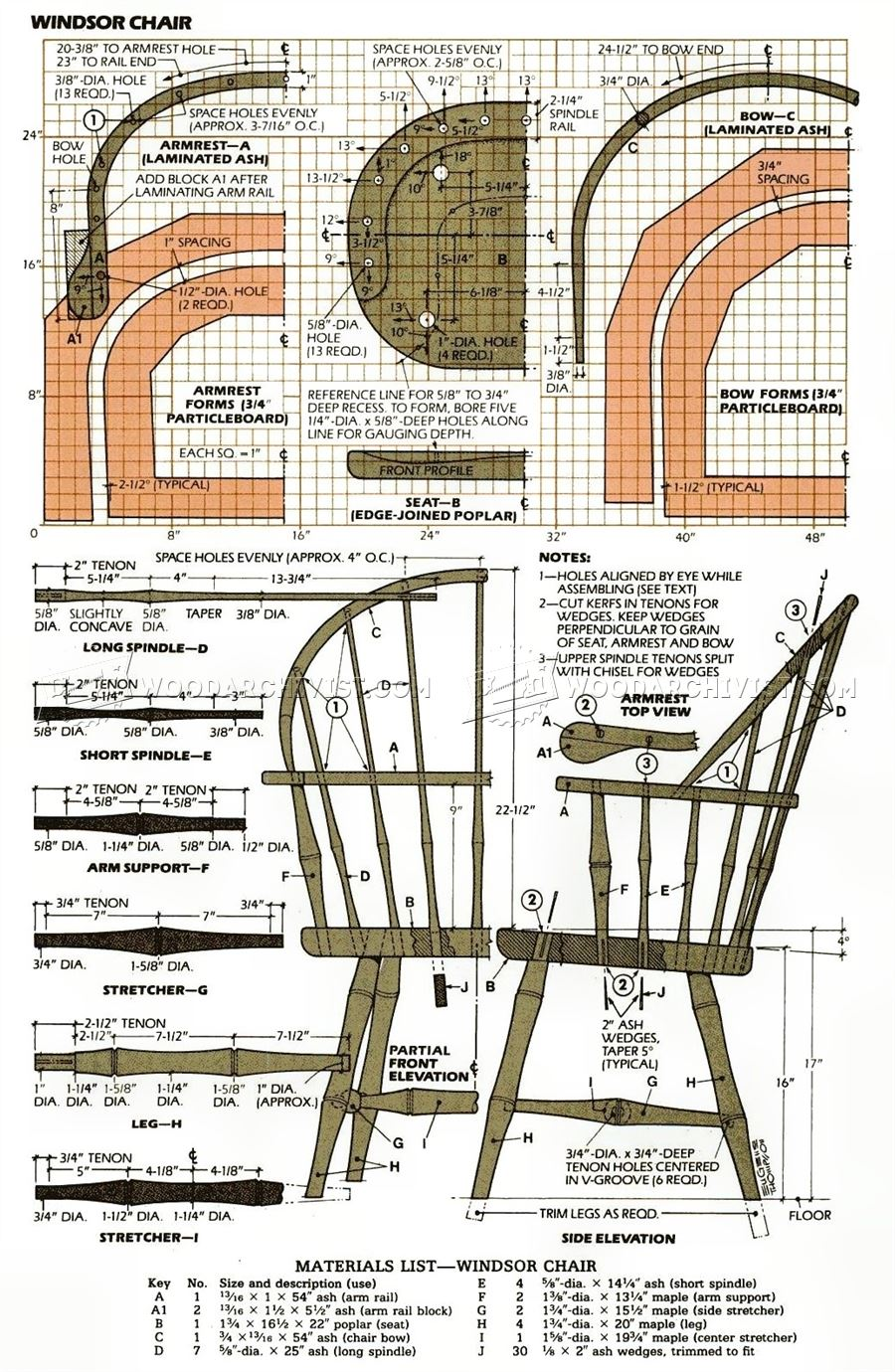 Classiс Windsor Chair Plans Woodarchivist