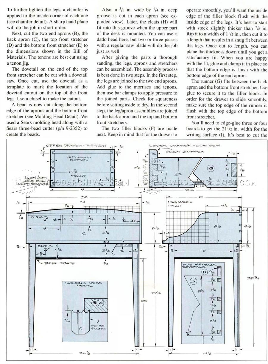 Writing Desk Plans