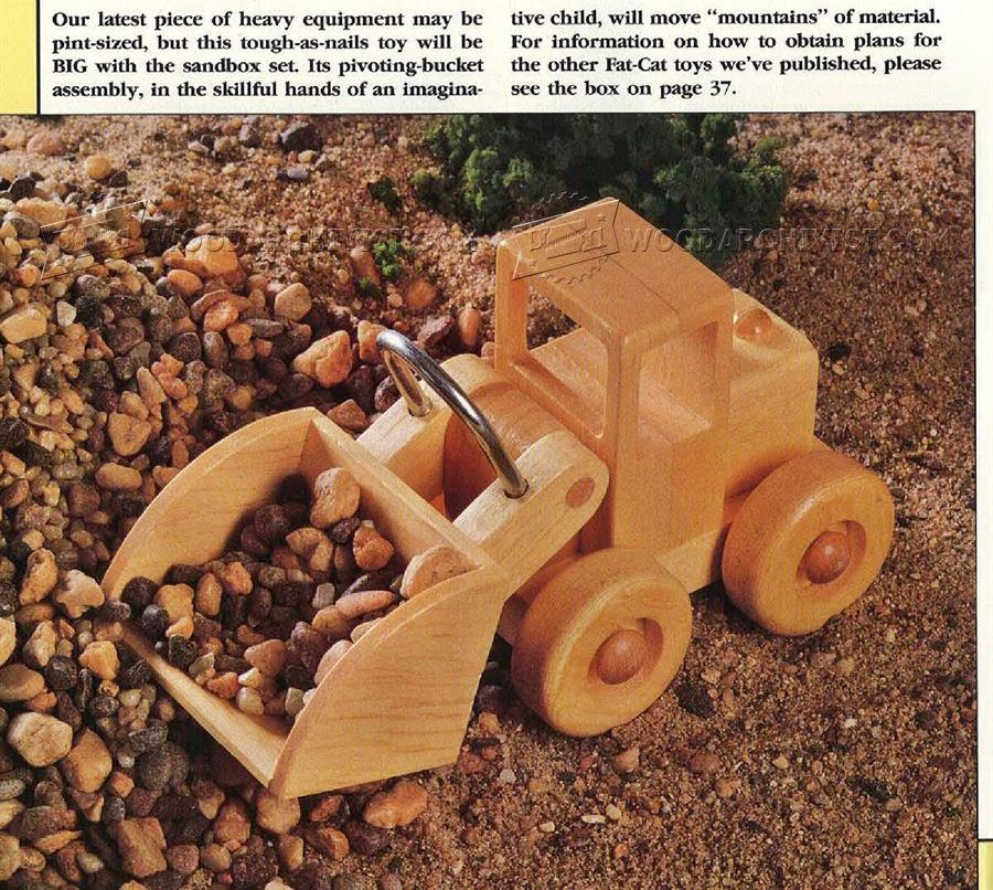 #2659 Wooden Front End Loader Plans