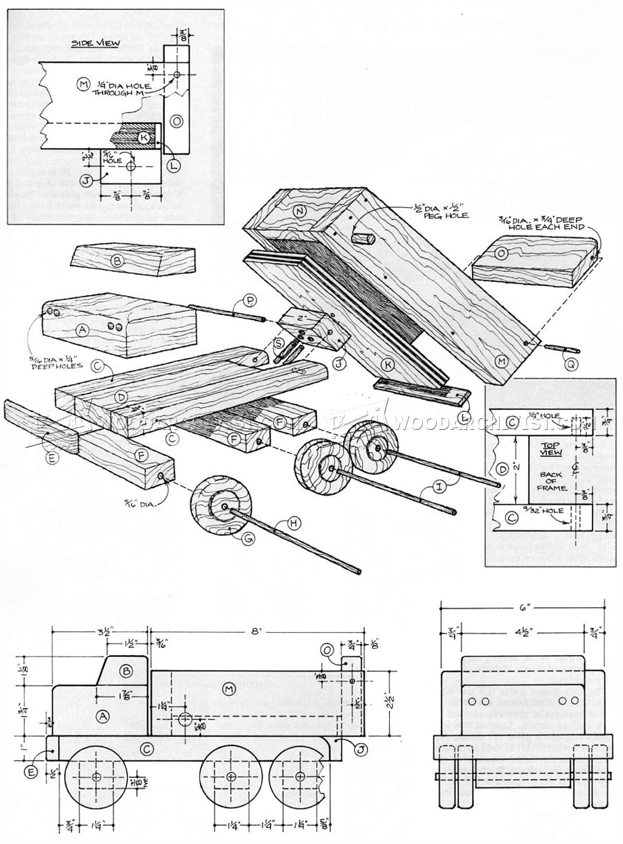 Wooden Dump Truck Plans • WoodArchivist
