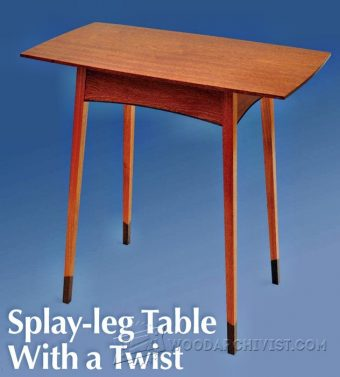 2664-Splay Leg Table Plans