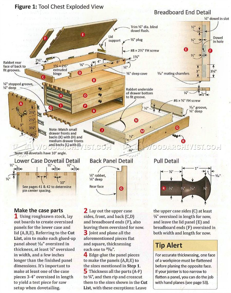 Dovetailed Tool Chest Plans