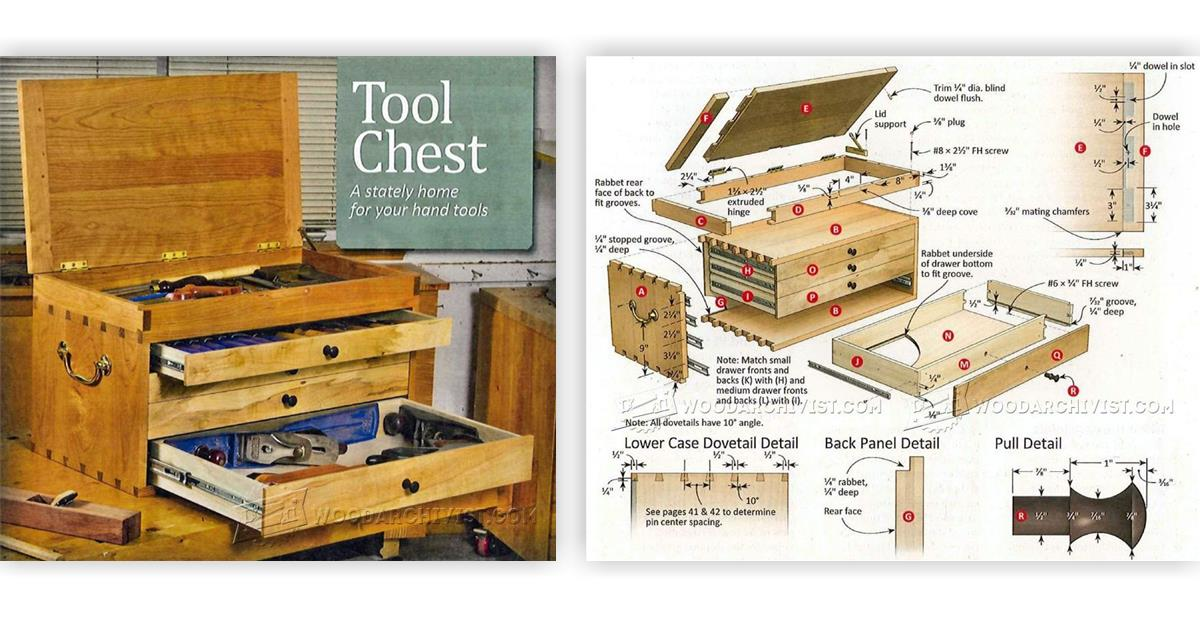 Dovetailed tool chest plans woodarchivist Building design tool