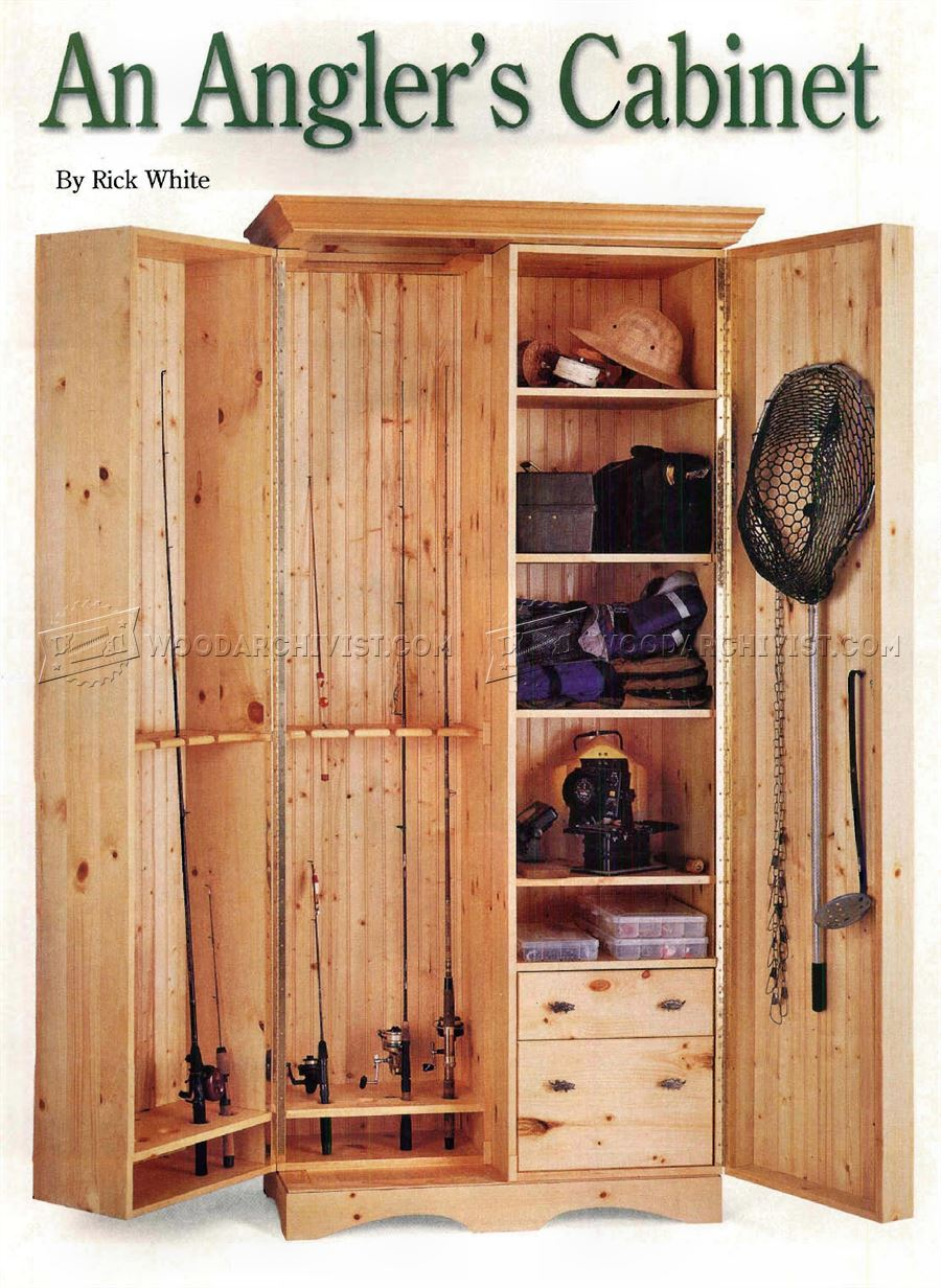 Fishing Rod Cabinet Plans WoodArchivist