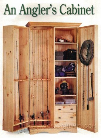 2682-Fishing Rod Cabinet  Plans