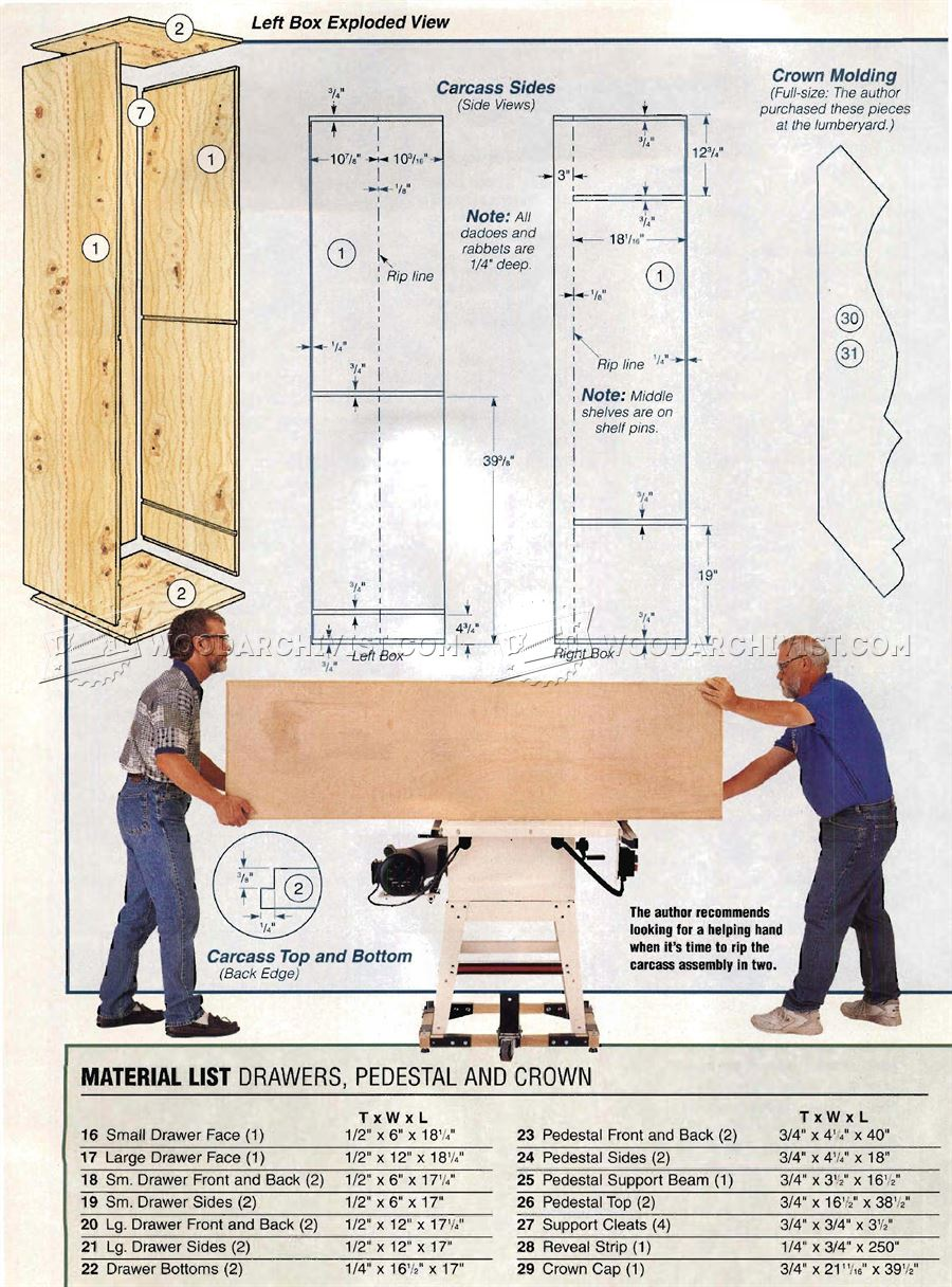 Fishing Rod Cabinet Plans
