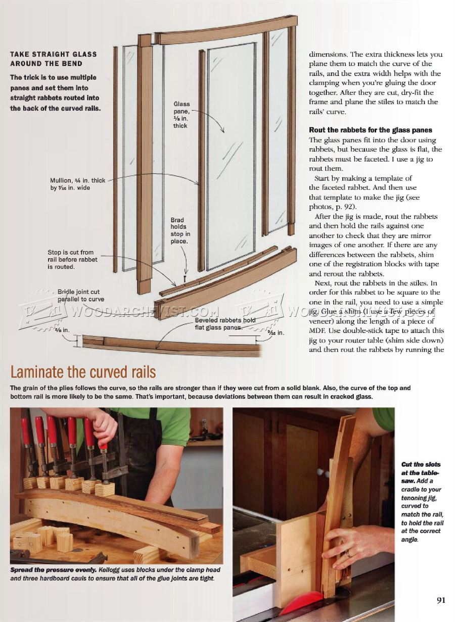 Making Curved Door with Flat Glass Panes
