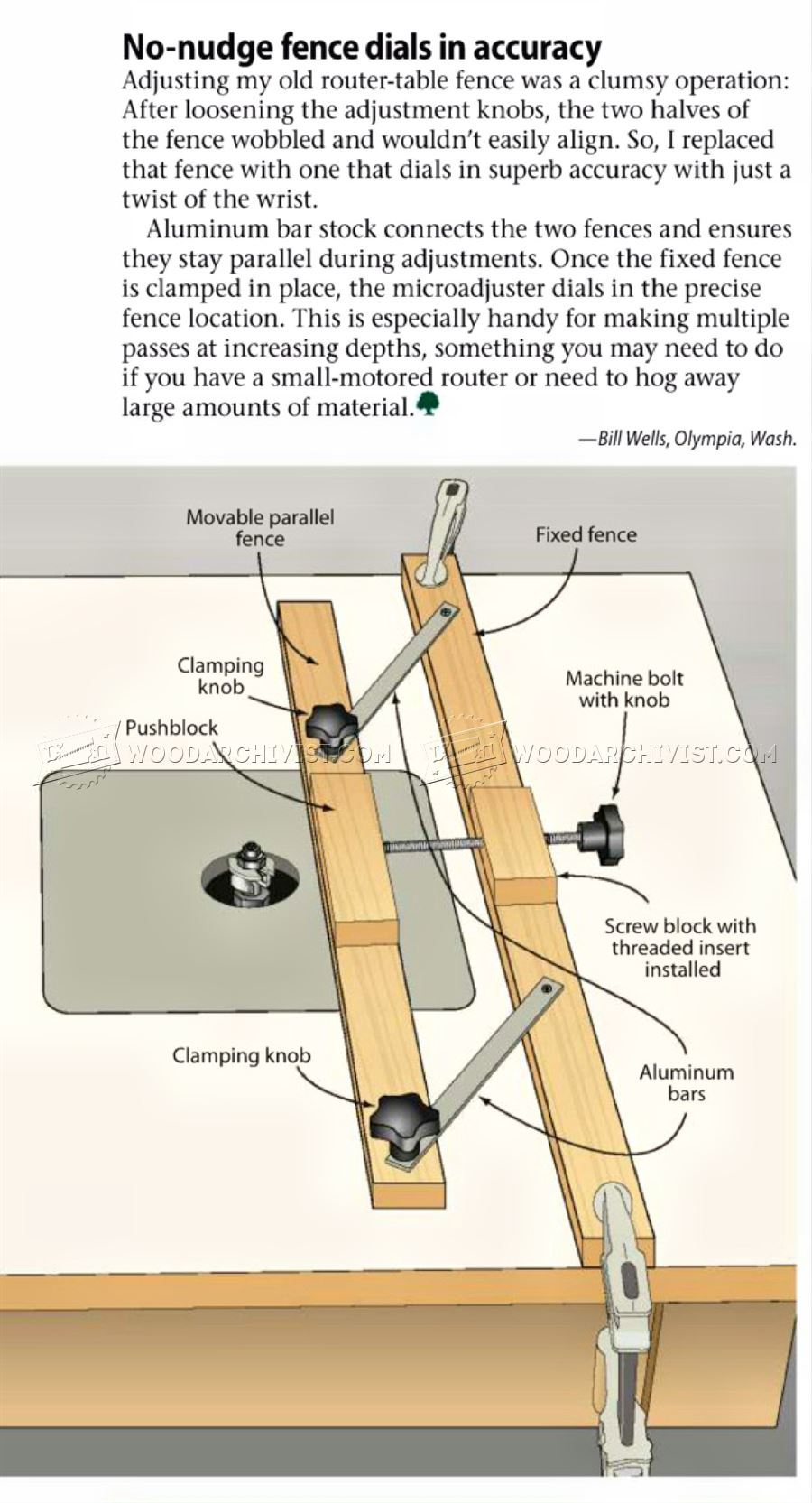#2684 Micro-Adjustable Router Fence