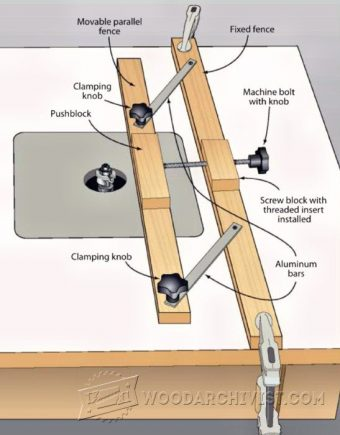2684-Micro-Adjustable Router Fence