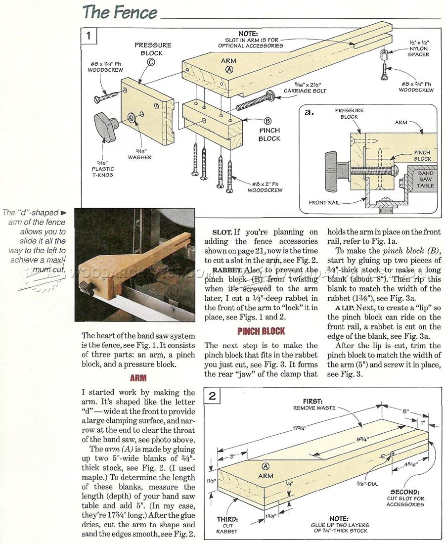 Band Saw Fence System Plans