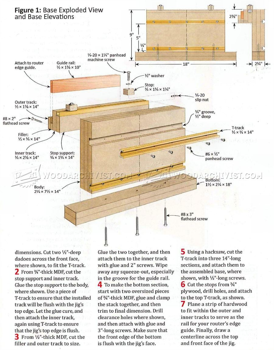 Slot Mortising Jig Plans