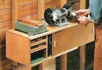 Wall Mounted Grinder Sharpening Station Plans Woodarchivist