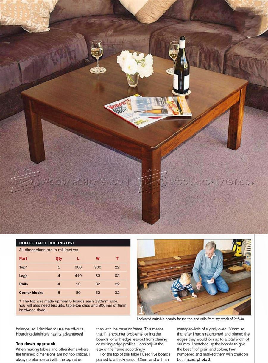Square Coffee Table Plans
