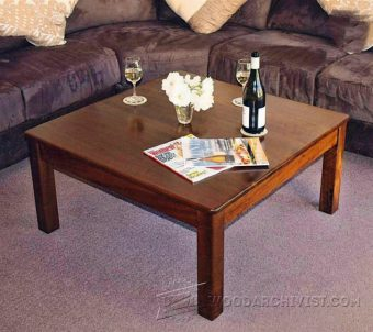 2694-Square Coffee Table Plans