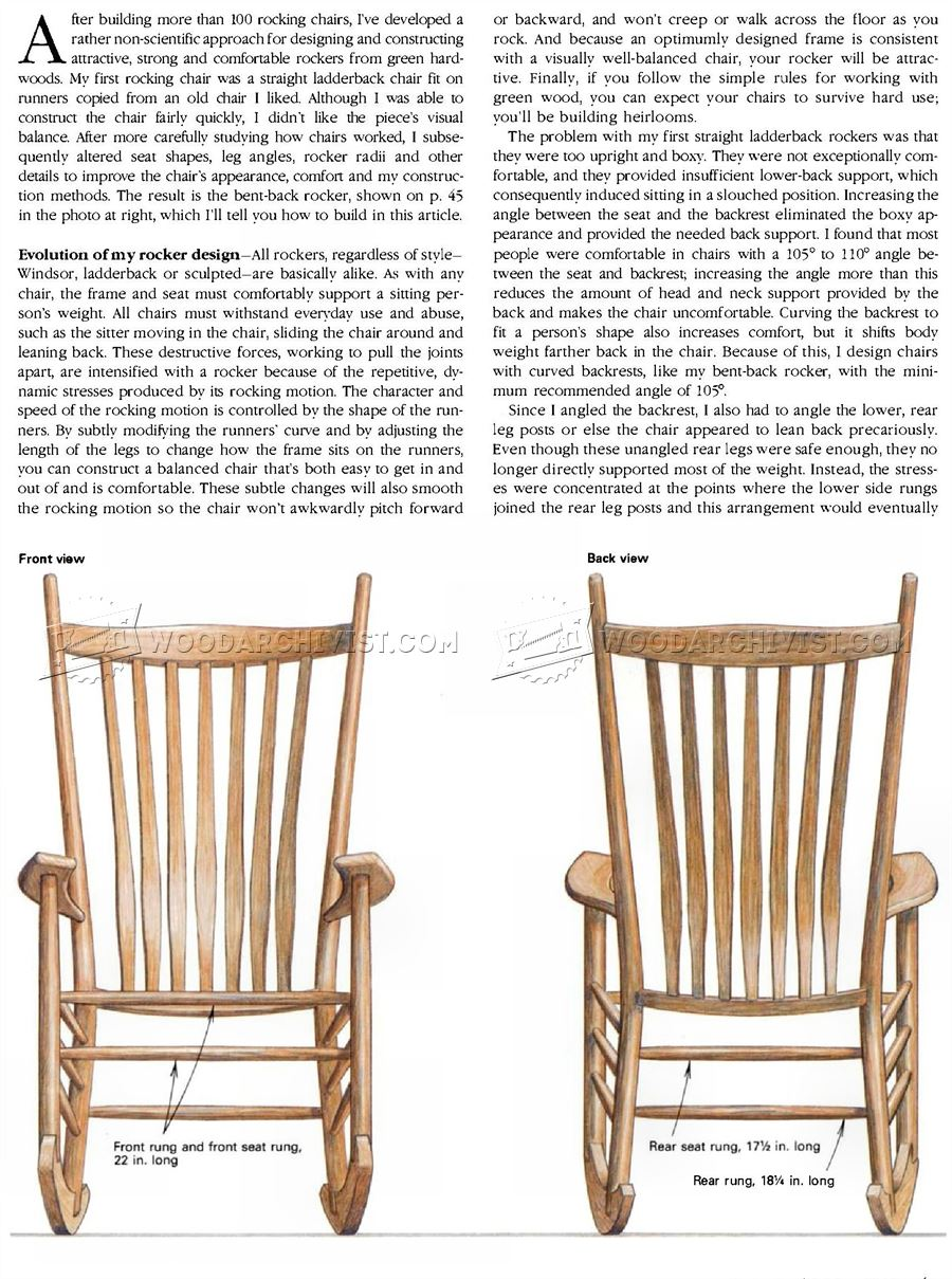 Build Rocking Chair O WoodArchivist