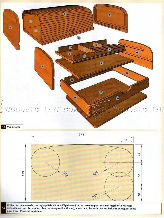 Tambour Desk Organizer Plans Woodarchivist