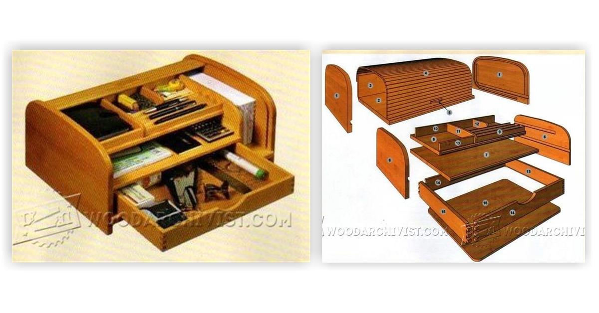 25 Model Wooden Desk Organizer Plans