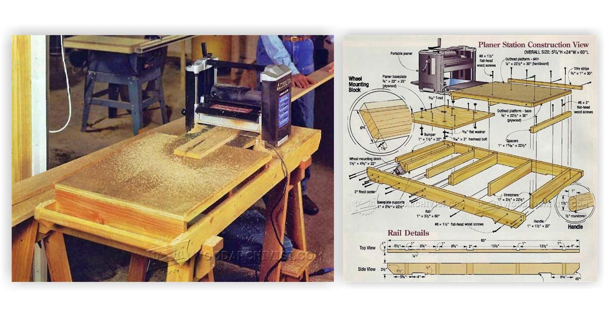 Planer Outfeed Table Woodarchivist