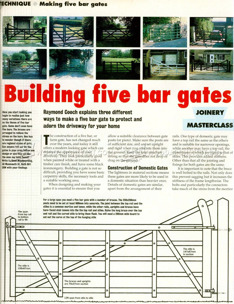 Building Five Bar Gates